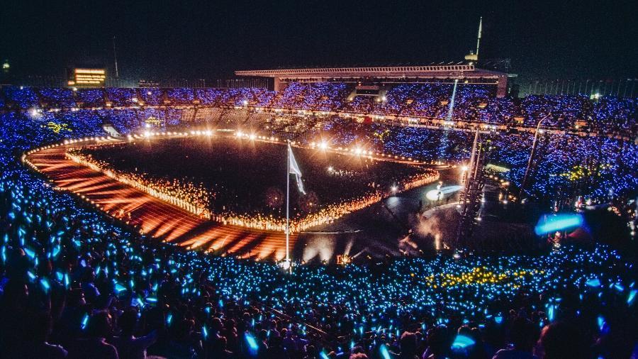 Cerimônia de abertura da Olimpíada de 1992, no Estádio Olímpico Montjuic, em Barcelona - David Madison/Getty Images