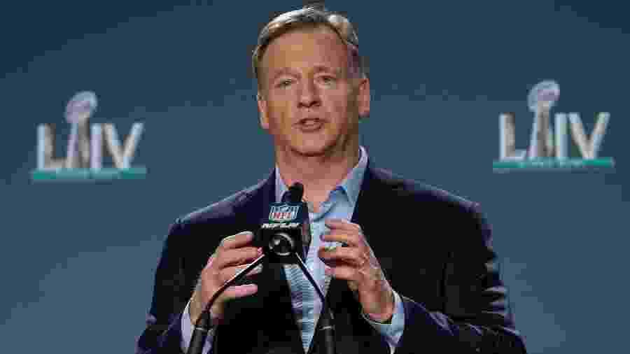 Comissário da NFL, Roger Goodell dá entrevista coletiva antes do Super Bowl LIV - Kirby Lee/USA Today Sports