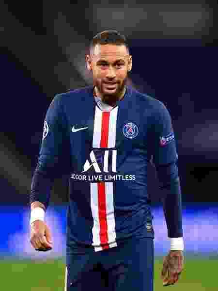 O atacante brasileiro Neymar Jr em campo pelo Paris Saint-Germain  - Aurelien Meunier - PSG/PSG via Getty Images