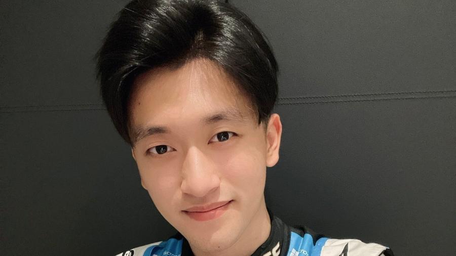 Guanyu Zhou, que testou com a Alpine nesta sexta - Twitter