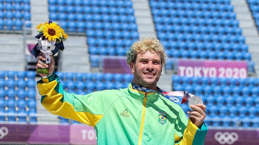 Pedro Barros, prata no skate park nas Olimpíadas de Tóquio-2020 - Gaspar Nóbrega/COB/Gaspar Nóbrega/COB