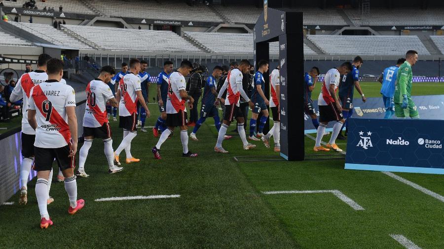 River Plate entra no Monumental de Núñez para enfrentar o Vélez Sarsfield no último sábado - Divulgação CARP