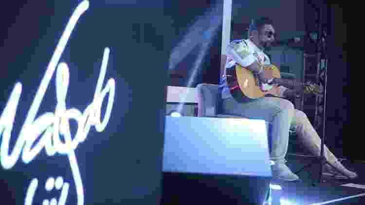 """Naldo Benny na gravação do DVD """"Nu Floww - Acústico"""" - Divulgação - Divulgação"""