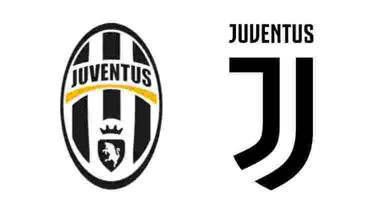 Mudança no escudo da Juventus - Reprodução - Reprodução