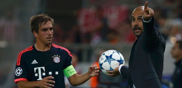 Lahm e Guardiola nos tempos de Bayern de Munique