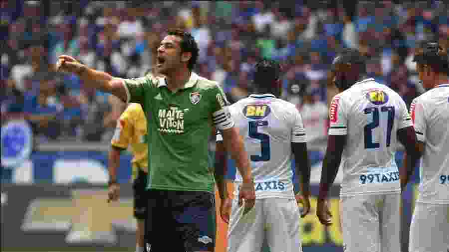 Atacante Fred é muito amigo de Mario Bittencourt e ligou para o agora novo presidente do Fluminense - NELSON PEREZ/FLUMINENSE F.C.