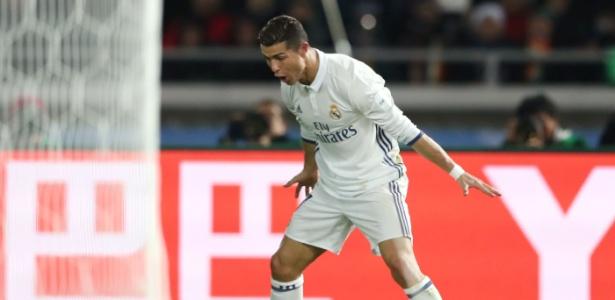 Cristiano Ronaldo comemora seu terceiro gol na final contra o Kashima Antlers