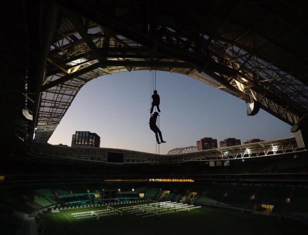 Allianz Parque vai oferecer rapel para os torcedores mais radicais