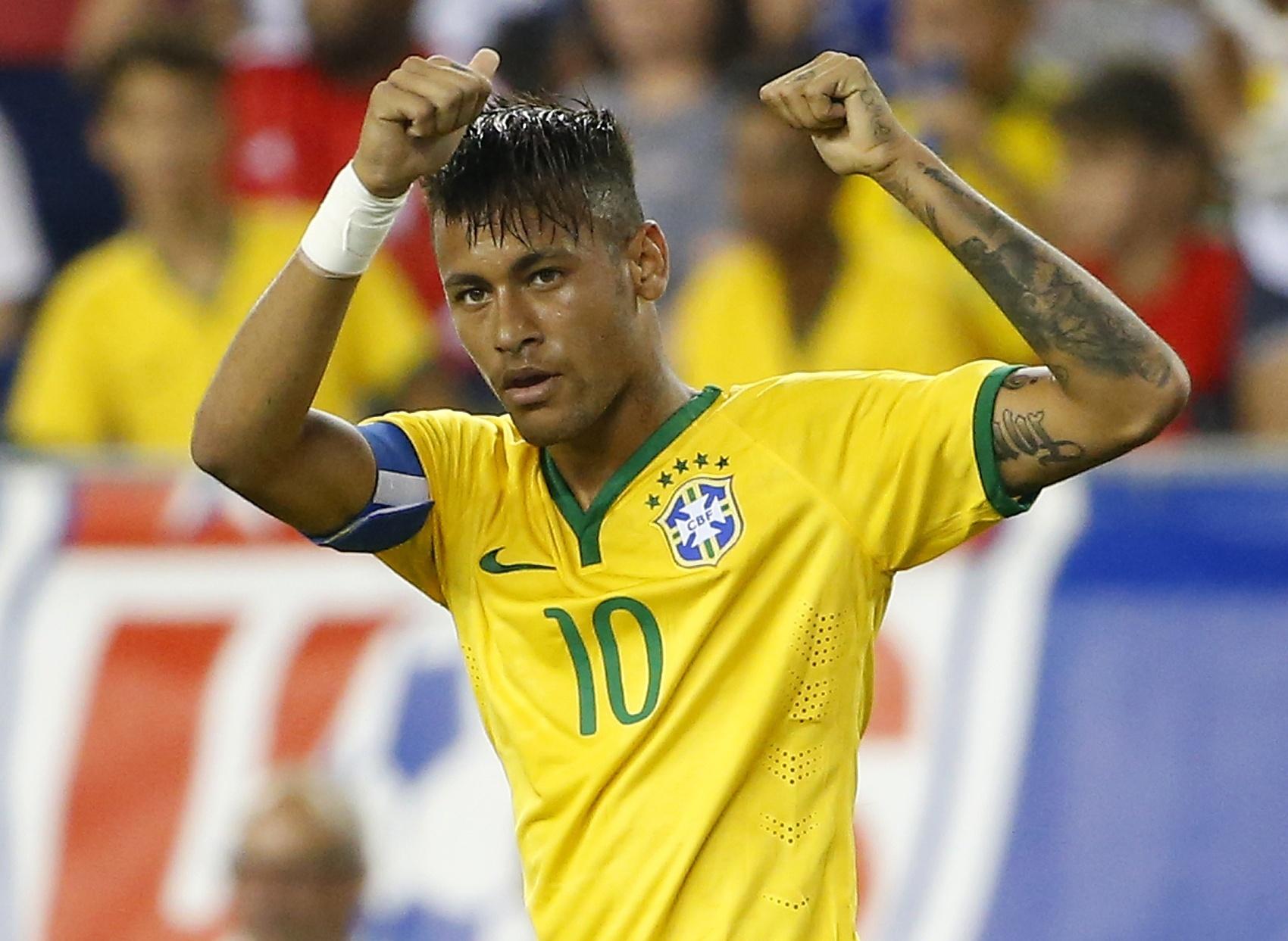 Neymar comemora após marcar contra os Estados Unidos na vitória por 4 a 1, em setembro de 2015