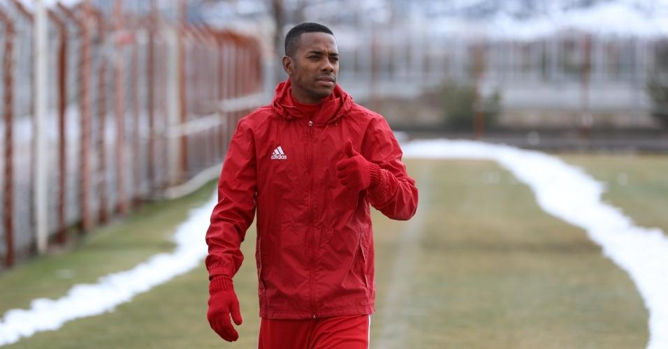 Robinho durante treino no Sivasspor