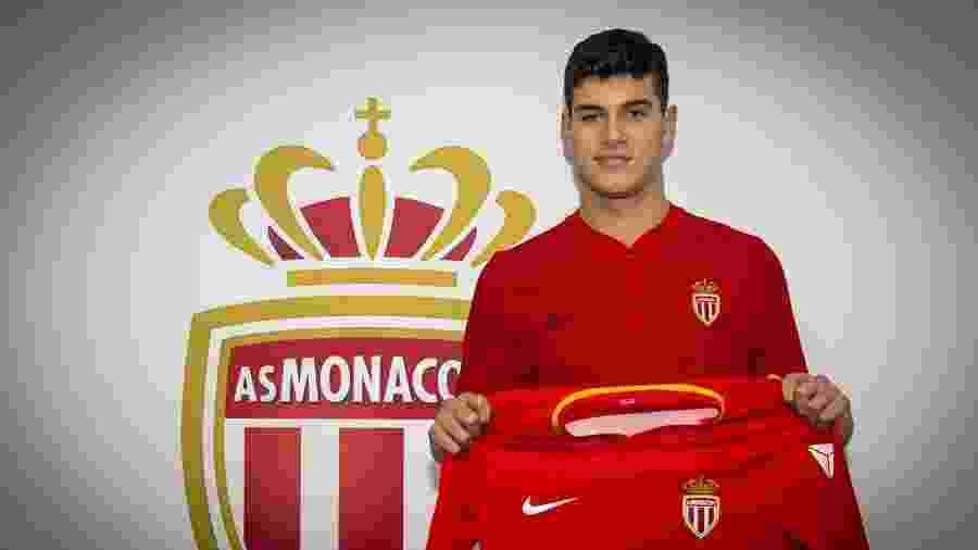 O jovem Pietro Pellegri, joia do Monaco, é alvo do Manchester United - Divulgação