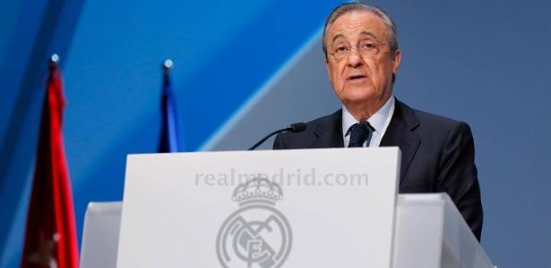 Presidente do Real Madrid, Florentino Pérez em assembleia do Real Madrid - Divulgação/Real Madrid