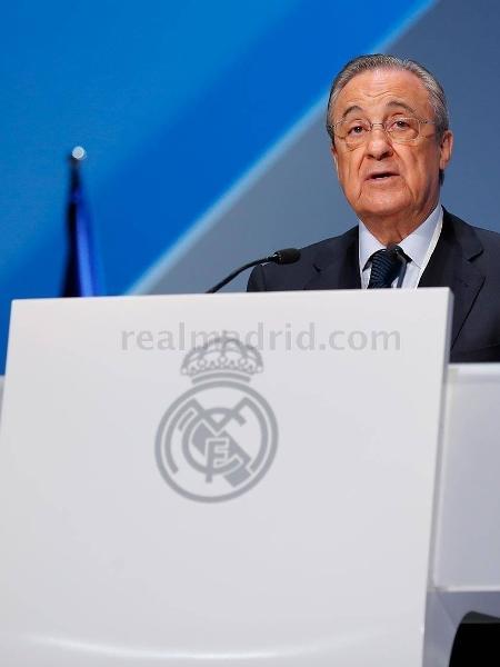Presidente do Real Madrid, Florentino Pérez, em assembleia do clube - Divulgação/Real Madrid