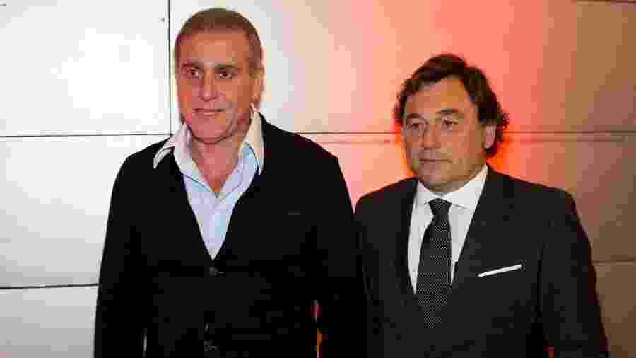 André Cury (à esquerda) foi diagnosticado com Covid-19 e está em repouso em casa - Marcus Leoni/Folhapress