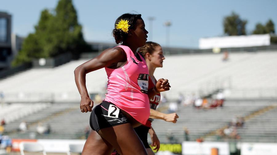 Alysia Montano chocou os Estados Unidos ao correr grávida em provas de atletismo - Ezra Shaw/Getty Images