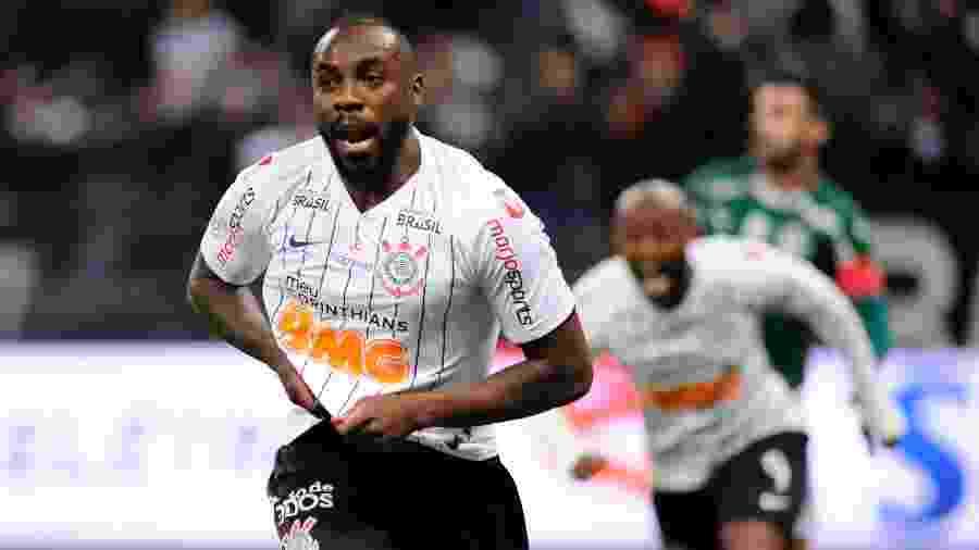 Manoel comemora gol na partida Corinthians x Palmeiras pelo Campeonato Brasileiro - Alan Morici/AGIF