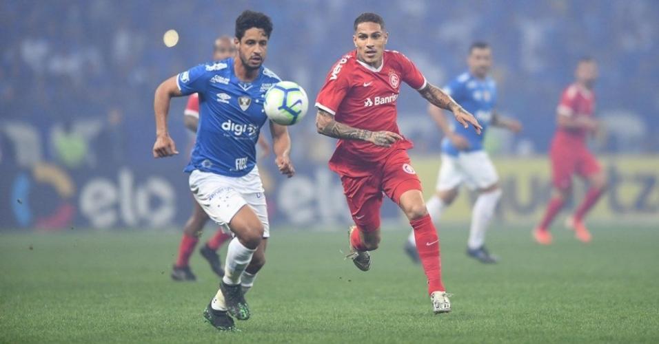 Guerrero, durante partida entre Cruzeiro e Internacional
