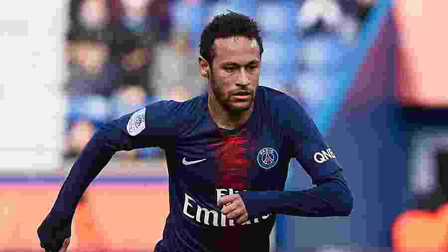 Neymar, em PSG x Nice, pelo Campeonato Francês - Quality Sport Images/Getty Images