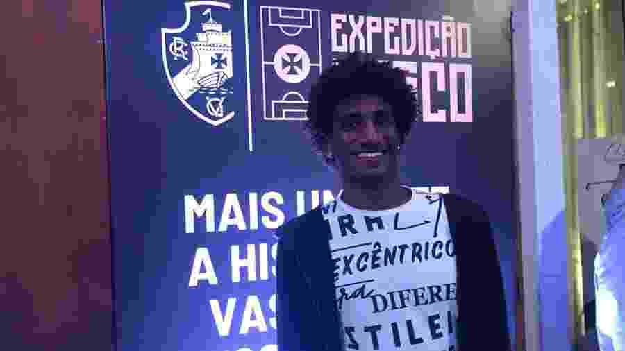 Talles Magno em evento de lançamento do financiamento do CT do Vasco: virou alvo de marketing - Bruno Braz / UOL