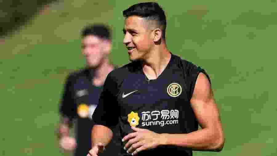 Alexis Sanchez em treino da Inter de Milão - divulgação/Inter