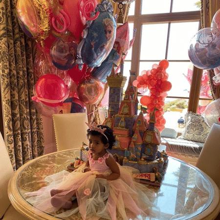 Capri, filha de Kobe Bryant, em seu aniversário de um ano - Reprodução/Instagram