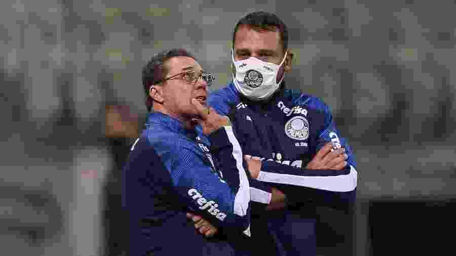 Vanderlei Luxemburgo e Maurício Copertino, do Palmeiras - Cesar Greco/Ag. Palmeiras