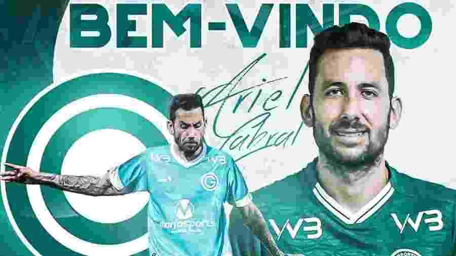 Ariel Cabral foi anunciado pelo Goiás - Divulgação/Goiás