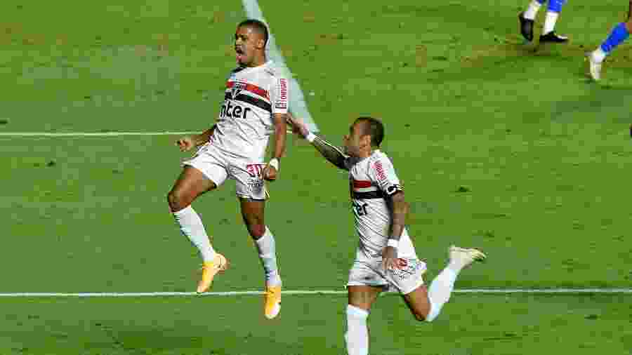 Brenner marcou os dois gols do São Paulo na partida contra o Fortaleza, pela Copa do Brasil - Bruno Ulivieri/AGIF