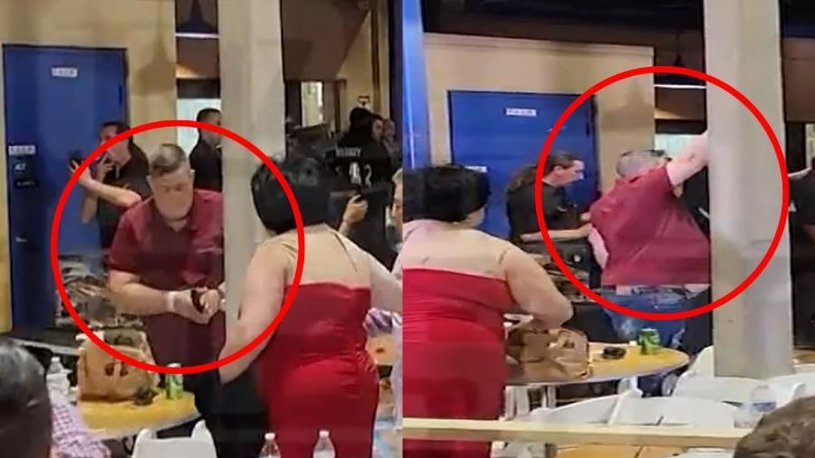 Homem atira para o alto durante briga generalizada em evento de MMA nos Estados Unidos - Reprodução