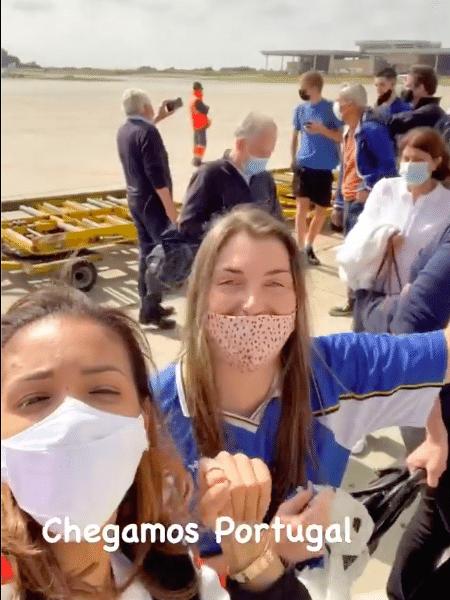 Belle Silva, esposa de Thiago Silva, faz festa ao chegar em Portugal - Instagram