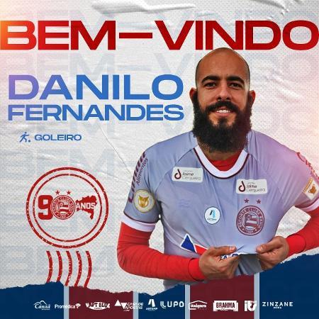 Danilo Fernandes, goleiro do Bahia - Divulgação/Facebook oficial do Bahia