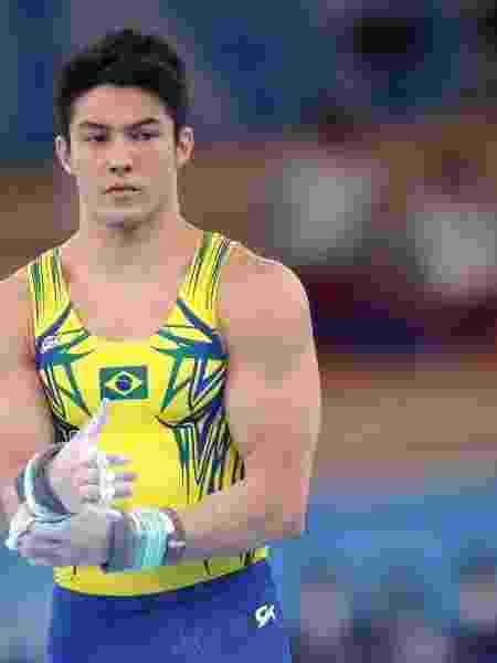 Arthur Nory durante participação no aparelho barra fixa, nas Olimpíadas de Tóquio - Gaspar Nobrega/ COB - Gaspar Nobrega/ COB