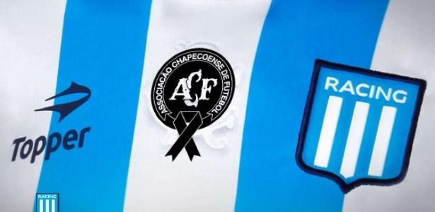 Racing fará homenagem a Chapecoense no próximo domingo - Reprodução/Racing