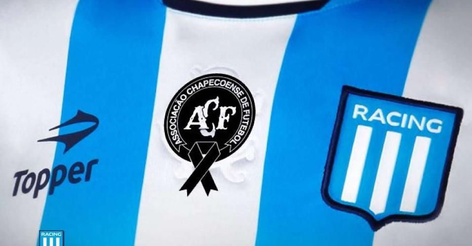Racing fará homenagem a Chapecoense no próximo domingo