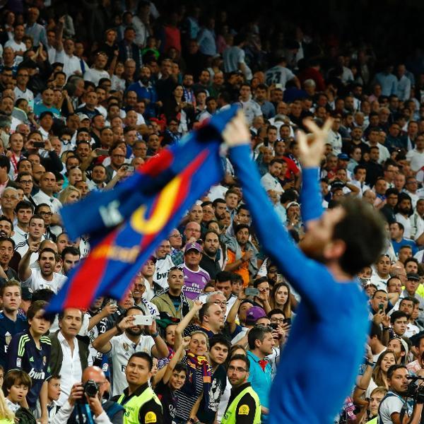 A comemoração de Messi no Santiago Bernabéu está entre os melhores momentos da década
