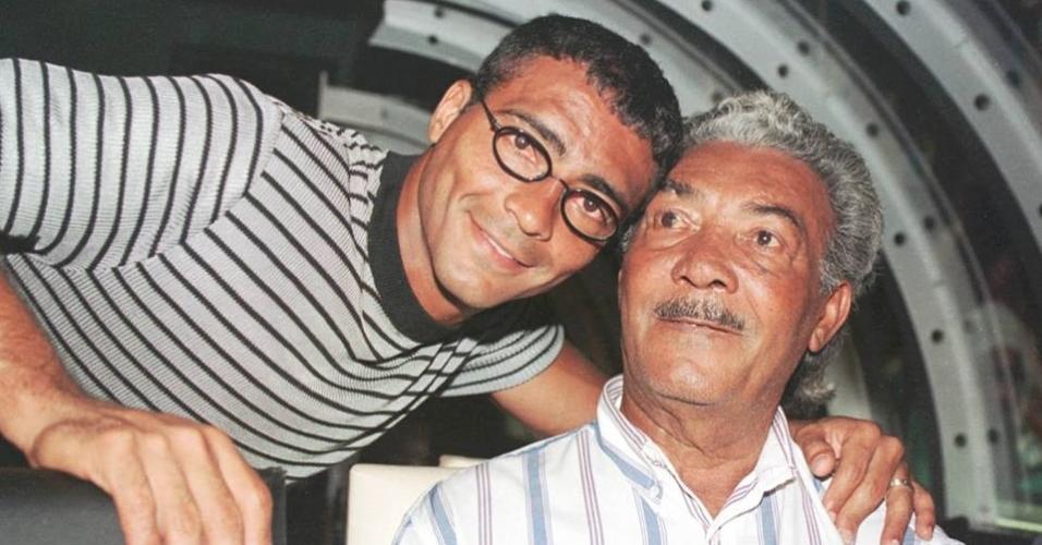 Romário e seu pai, seu Edevair