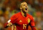 """Brasileiro que marcou pela Espanha celebra conquista do """"primeiro objetivo"""" - Heino Kalis/Reuters"""