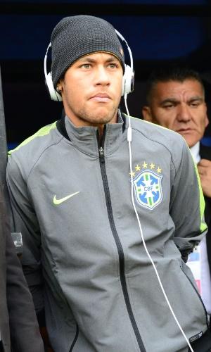Neymar em treino da seleção brasileira antes do jogo contra a Venezuela pela Copa América, em junho de 2015