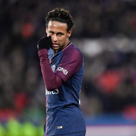 Neymar durante jogo entre PSG e Dijon pelo Campeonato Francês - Christophe Simon/AFP