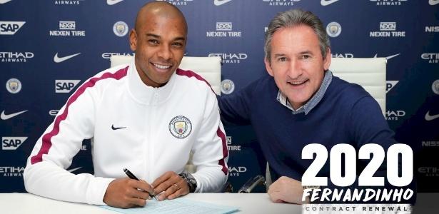 Fernandinho assina novo contrato com o Manchester City
