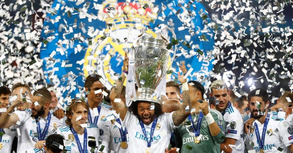 Marcelo levanta taça da Liga dos Campeões