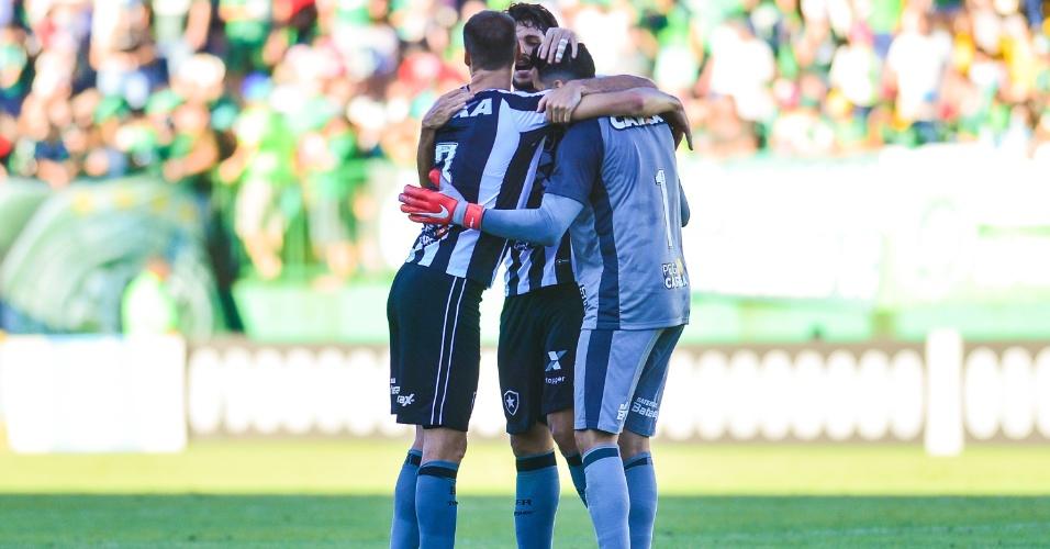Botafogo comemora vitória Chapecoense