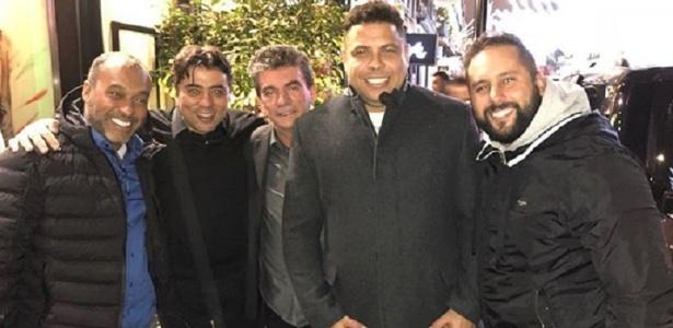 Irmão de Marquinhos registrou o encontro de Kia, Andrés e Ronaldo em Londres - Reprodução/Instagram