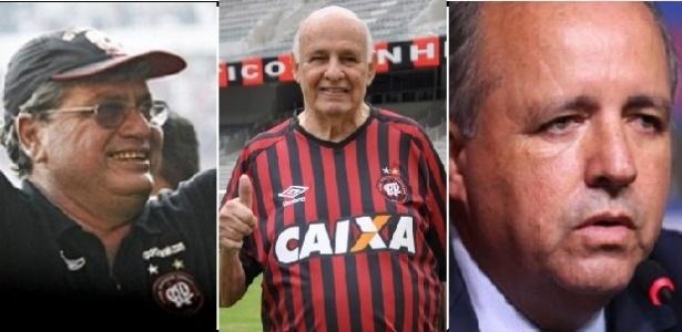 Geninho, Pepe e Vadão ganharam títulos importantes para a história do Atlético-PR - Reprodução