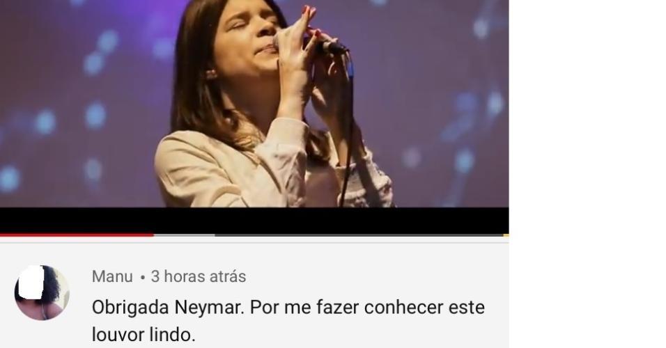 Música de Luma Elpidio apareceu em vídeo de Neymar