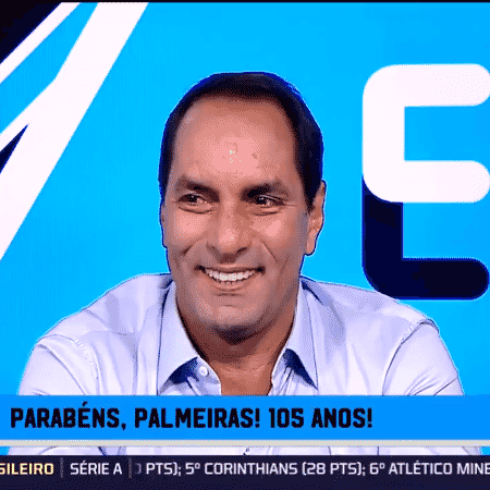 Edmundo, comentarista dos canais Fox Sports - Reprodução/Fox Sports