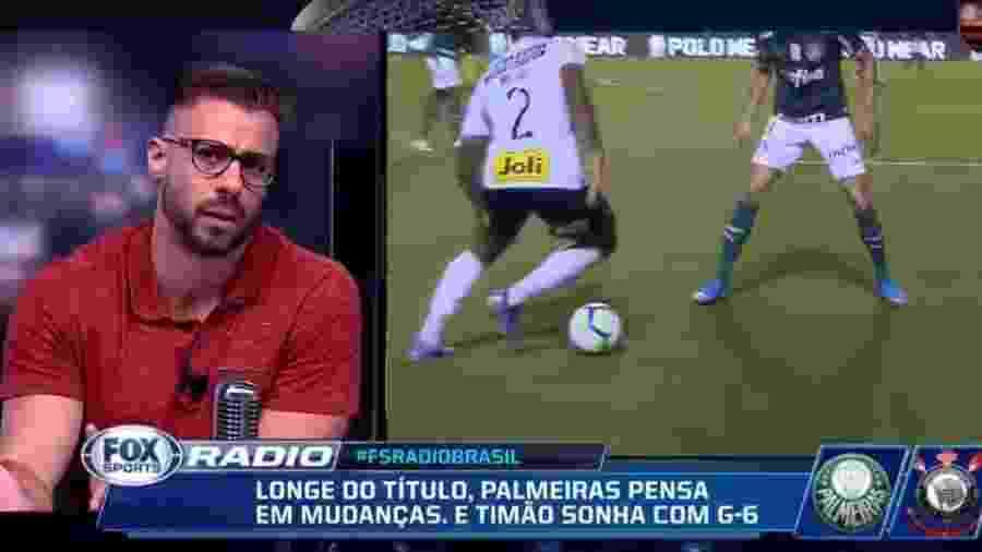 Facincani durante Fox Sports Rádio  - Reprodução