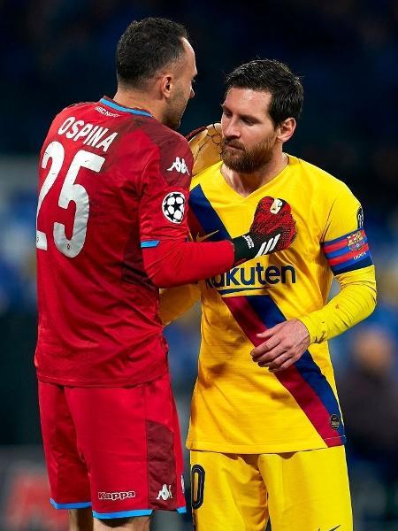 David Ospina quer parar Lionel Messi na semifinal da Copa América - Quality Sport Images/Getty Images