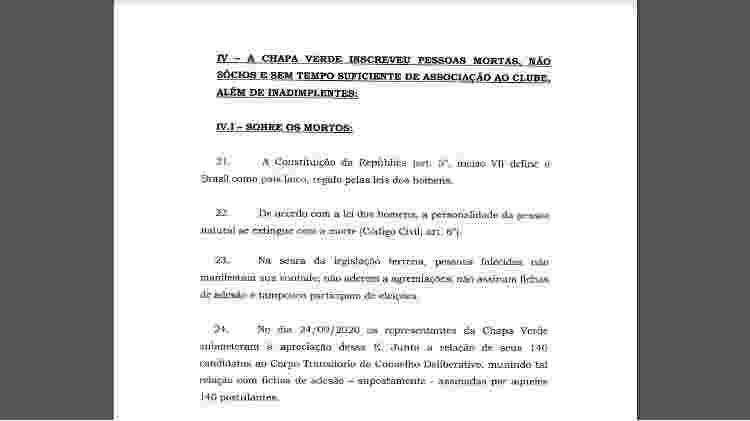 Chapa de Durcésio pede impugnação de chapa de Walmer para eleição do Botafogo - Reprodução - Reprodução