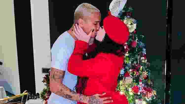 Deyverson e Karina no Natal - Reprodução/Instagram - Reprodução/Instagram